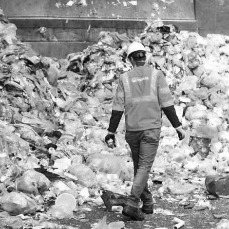 Abfall verwerten und Müll entsorgen